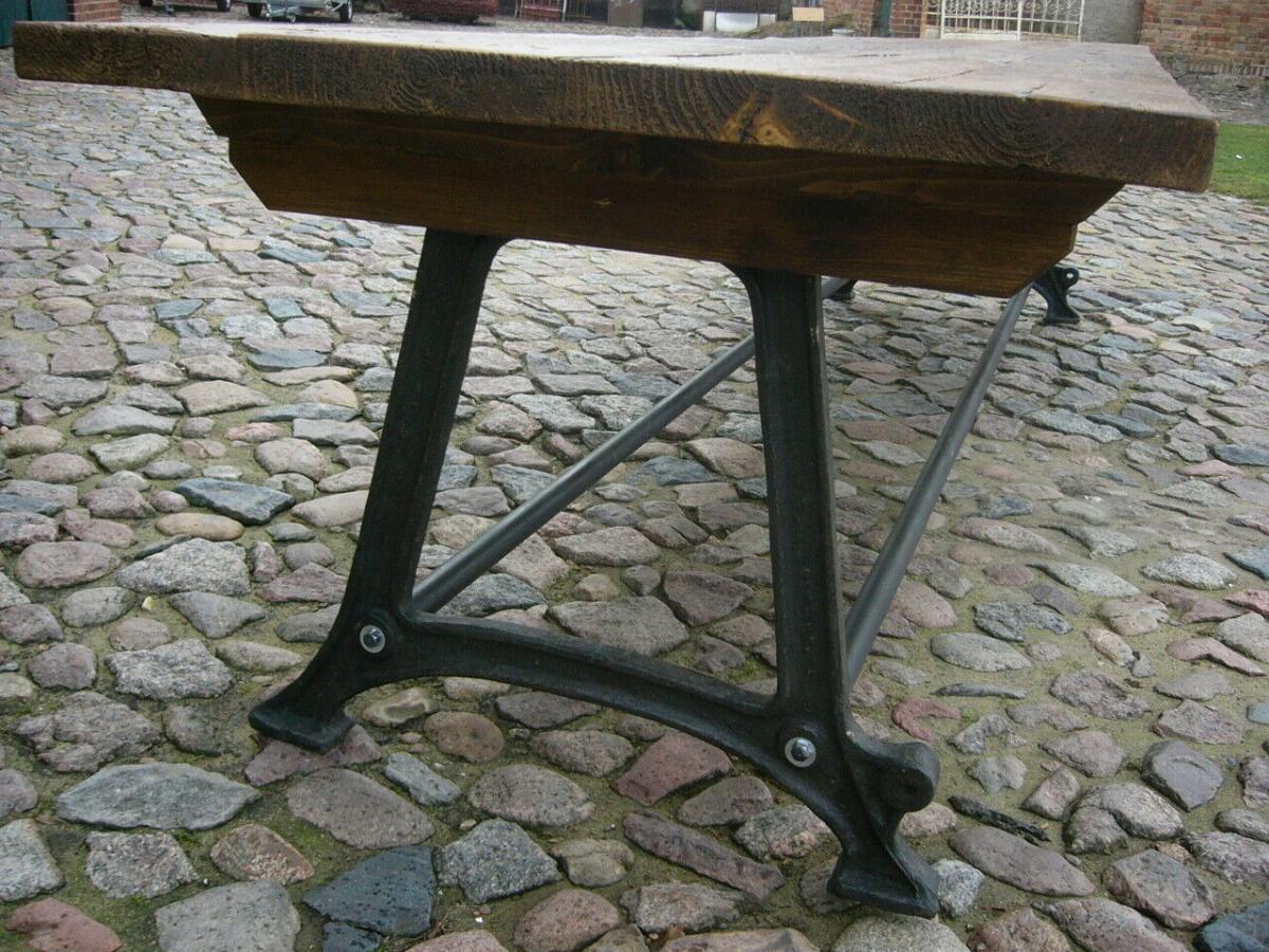 Tisch antik aus alter Schmiede zerlegbar 356,5cm lang um 1900 Jhd. 9