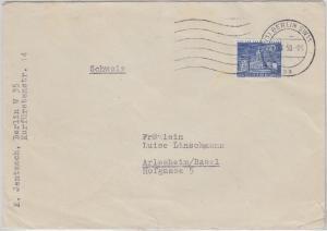 Berlin - 40 Pfg. Stadtbilder Schloss Charlottenburg Brief i.d. SCHWEIZ 1958