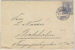 Danzig - Olivia 1907 20 Pfg. Germania  Brief n. SCHWEDEN