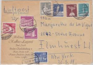 Berlin - Luftpostbrief (5.Gew.St. bis 25g) n. USA Charlottenburg 1957 Frankatur!