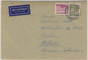 Berlin - 50+5 Pfg. Stadtbilder Luftpostbrief n. HOLLAND Charlottenburg 1960