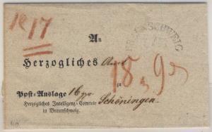 Braunschweig - Auslagenbrief (Vordruck) 1840 n. Schöningen - m. Inhalt