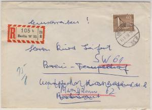 Berlin - 60 Pfg. Stadtbilder II Ortsbrief Einschreiben Berlin W35 1958