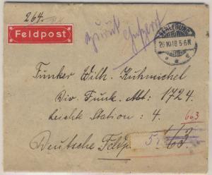 Militärmission i.d. Türkei - Feldpost-Streifband v. Berleburg - Dt. Feldpost 663