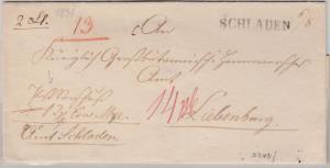 Hannover - Schladen (6/8), L1 a. Postvorschussbrief n. Liebenburg, ohne Inhalt