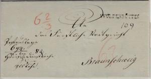 Hannover - Wolfenbüttel, L1 a. Postauslagebrief n. Braunschweig, ohne Inhalt