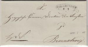Braunschweig - Holzminden 5/5 (1851), Sonderform a. Dienstbrief n. Braunschweig