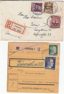 DR/BRD - Freilassing, 6 Heimatbelege 1921-1985