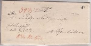 Braunschweig - Hasselfelde (1825), L1 a. Postvorschußbrief n. Wolfenbüttel