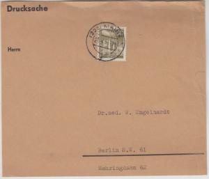 Berlin - 50 Pfg. Stadtbilder, Drucksache-Vorderseite (bis 500 gr) Mainz 1961