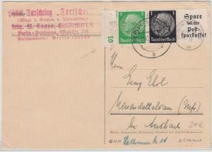 DR - Hindenburg Zusammendruck m. Druckerzeichen