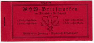 DR - WHW 1936, Markenheftchen MH 43 (H-Blätter 107, 108) postfrisch