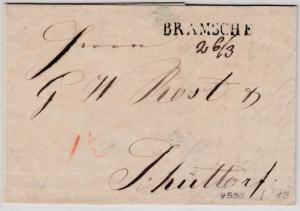 Hannover - Bramsche 26/3 (1848), L1 a. Portobrief n. Schüttorf, mit Inhalt