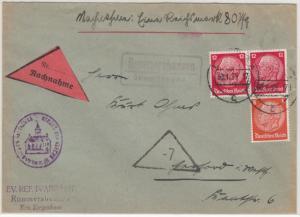 DR - Rommershausen ü. Treysa, Landpost-Ra2 a. Nachnahmebrief n. Herford 1935