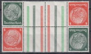 DR - Hindenburg Zusammendruck m. Zwischensteg KZ29.1 postfrisch/MNH