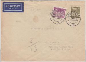 Berlin - 50+5 Pfg. Stadtbilder II, Lupo-Brief n. ITALIEN Berlin SO36 - Rom 1961