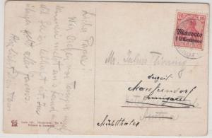 DP Marokko - 10 C. Germania/Überdruck, Karte n. ÖSTERREICH, Tanger - Kitzbühel