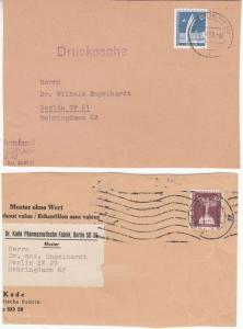 Berlin - 15+25 Pfg. Stadtbilder je a. Drucksache bzw. Muster o. Wert Berlin 1957