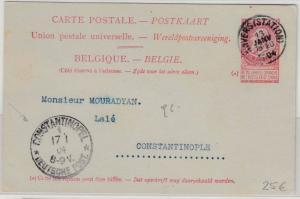 DP Türkei - Incoming 10 C. belg. GA-Karte Antwerpen - Constantinopel 1904