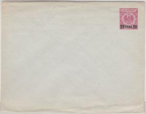Deutsche Post Türkei 20 P./10 Pfg. GA-Umschlag Krone/Adler ungebraucht B-Format