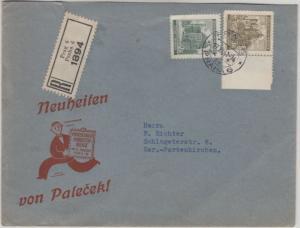 Böhmen & Mähren - 3 K. Randstück Plattensternchen u.a. Einschreiben Prag 6 1941