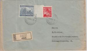 Böhmen & Mähren - 4 K. Randstück 2 Plattensternchen u.a. Einschreiben Podiebrad