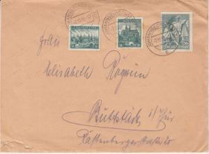 Sudetenland - Johanngeorgenstadt 7.10.38 tschech. Frankatur milit. Absender