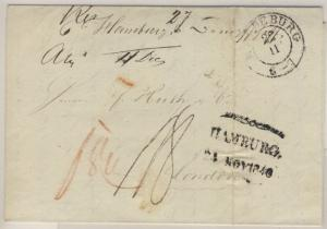 Preussen/Hamburg/England - Portobrief n. London 1840 - Durchgangsstpl. Hamburg