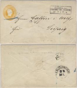 Preussen - 3 Sgr. Fr. Wilhelm IV., GA-Umschlag Ra2 Breslau Niederschl. Bahnh. n.