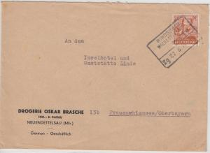 All.Bes./Kontrollrat - Windsbach - Wicklesgreuth Bahnpost Zg 27_6, Brief 1948 v.