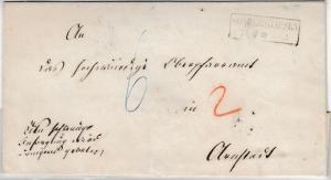 Preussen - Sondershausen (ca. 1860), Ra2 a. Brief n. Arnstadt, rs. Bahnpost-Ra3
