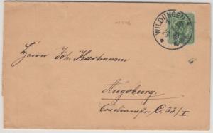 DR - Wildungen 1889, 3 Pfg. Faltdrucksache (Mineralwasser) n. Augsburg