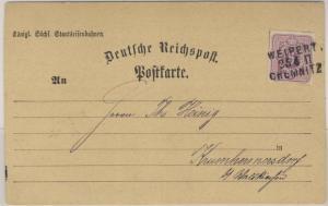Deutsches Reich - Weipert - Chemnitz, Bahnpost-L3 a. Postkarte