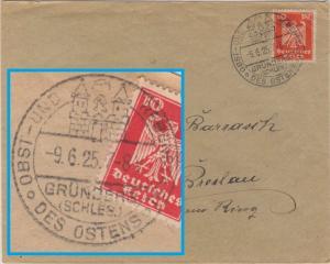DR - Grünberg (Schlesien) Obst- und Regenstadt des Ostens, Brief n. Breslau 1925