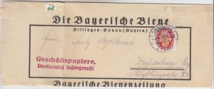 DR - 10 Pfg. Nothilfe Wappen Streifband/Geschäftspapiere Dillingen 1927 n.