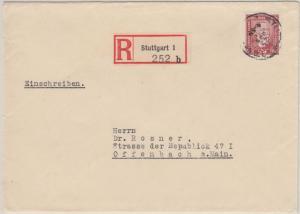 DR - 60 Pfg. Stephan y-Papier Einschreibebrief Stuttgart - Offenbach 1929