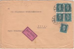 DR - 5x10 Pfg. H. v. Stephan Eilbrief Ebermannstadt - Bad Tölz 1924