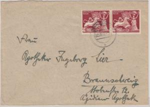 DR - 2x6 Pfg. Goldschmiedekunst, Brief Danzig - Braunschweig 1942