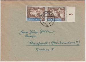 DR - 6 Pfg. Mozart, Paar a. Brief Böblingen - Berlin 1941, ohne Inhalt