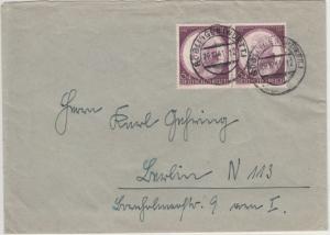 DR - 6 Pfg. Postkongress, Paar a. Brief Dresden - Wagstadt 1942