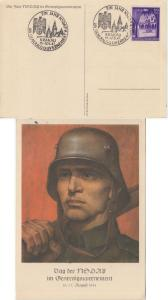 Gen.Gouv. Polen - Tag der NSDAP farb. Sonderkarte SST Krakau 1941