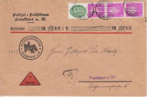 DR - 3x10 Pfg. Ebert POL-Lochung u.a. Nachnahme Ortsbrief Frankfurt a.M. 1931