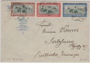 Ägypten - Congres International du Coton 1927 Satzbrief Continental Savoi Kairo