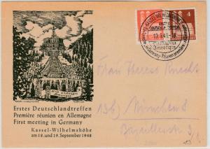 Bizone - Kassel-Wilhelmshöhe 1. Deutschlandtreffen Club Armorique, SST 1948 a.