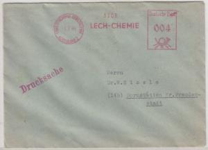 Bizone - (13b) Lechchemie Gersthofen Augsburg 2, 4 Pfg. AFS a. Drucksache n.