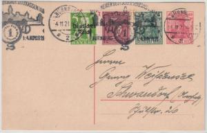 DR - Nürnberg 1921, Allgem. Dt. Sparkassentag, Masch.werbestpl. a. GA-Karte n.