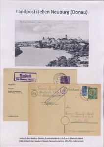 Neuburg (Donau) - Landpoststellen, Sammlung (46 versch. Belege)