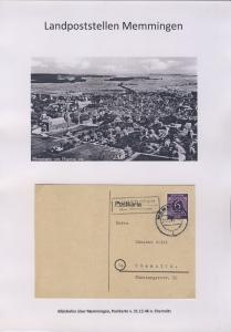 Memmingen - Landpoststellen, Sammlung (35 versch. Belege)