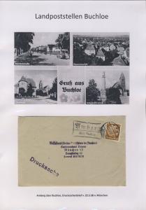 Buchloe - Landpoststellen, Sammlung (31 versch. Belege)