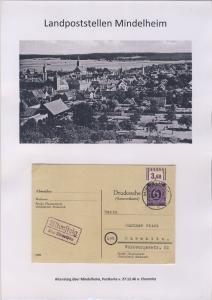 Mindelheim - Landpoststellen, Sammlung (36 versch. Belege)